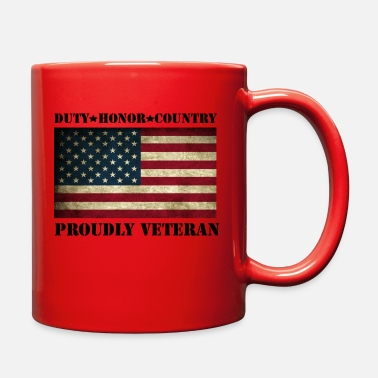 proudly veteran - Full Color Mug