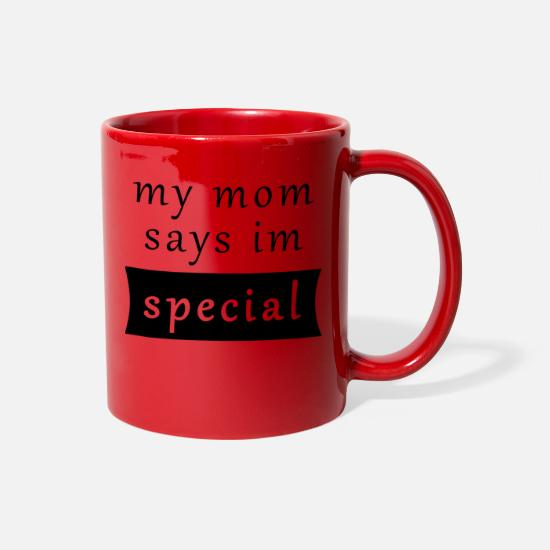 Gift Idea Mugs & Drinkware - Funny Baby Saying Mom Parents Birth Present - Full Color Mug red