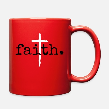Clothing Faith Christian Cross Design - Full Color Mug