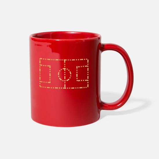 Football Mugs & Drinkware - FOOT BALL PITCH - Full Color Mug red