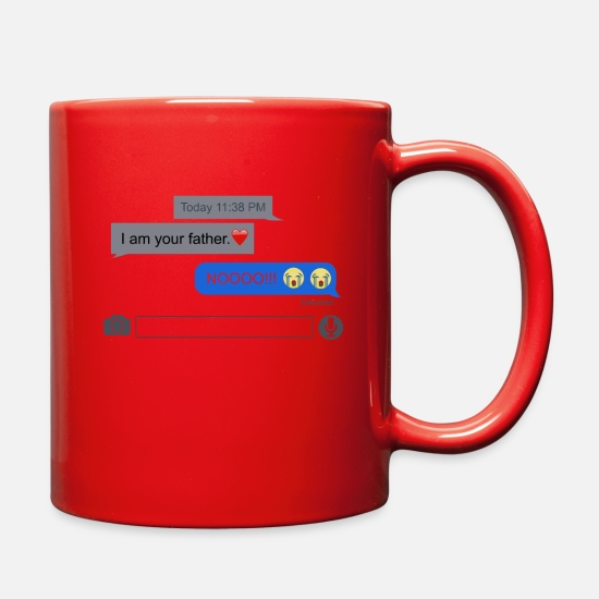 Game Mugs & Drinkware - Text Wars - Full Color Mug red