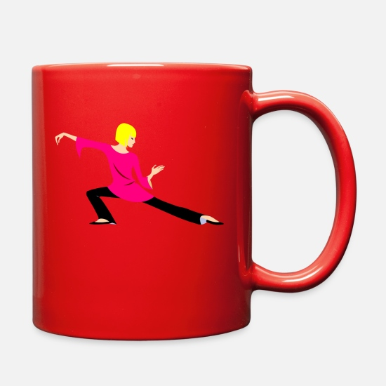Dancer Mugs & Drinkware - woman - Full Color Mug red