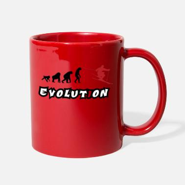 Evolution with Skier - Full Color Mug