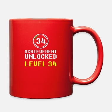 Unlock achievement unlocked level 34 - Full Color Mug