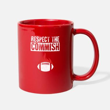Respect The Commish Football - Full Color Mug