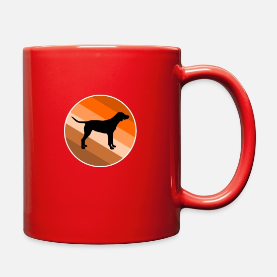 Dog Lover Mugs & Drinkware - Labrador - Full Color Mug red