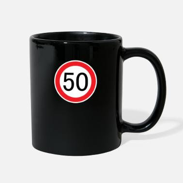 Suv Traffic sign driver's license fifty years birthday - Full Color Mug