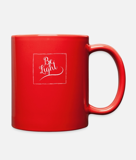 Church Mugs & Cups - Be Light - Full Color Mug red