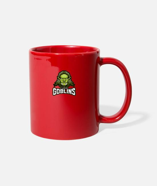 Design Mugs & Cups - I love goblins - Full Color Mug red