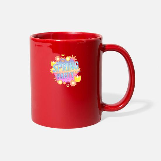 Flowers Mugs & Drinkware - Spring Party Flower and Plants - Full Color Mug red