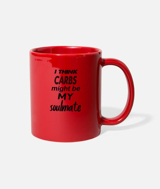 Slimming Mugs & Cups - carbs soulmate - Full Color Mug red