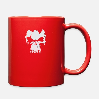 White Skull White - Full Color Mug
