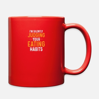 Certified Nutrition Specialist I'm Silently Judging Your Eating Habits,Nutritioni - Full Color Mug