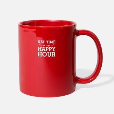 Nap Time Is My Happy Hour Nap Time Is My Happy Hour Funny Napping - Full Color Mug