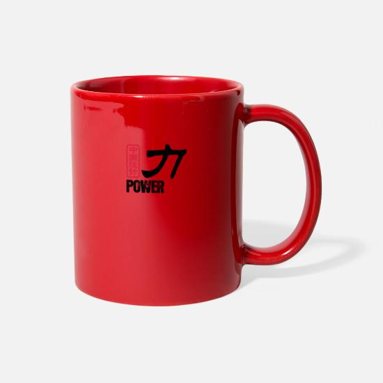 Symbol  Mugs & Drinkware - Chinese Words: Force - Full Color Mug red