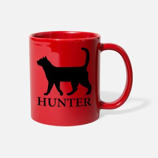 Catcher Mugs & Drinkware - Feline Hunter - Full Color Mug red