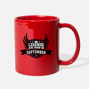 September Birthday Legends Are Born in September | September Birthday - Full Color Mug