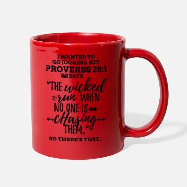 Black Proverbs 28 1 I Wanted to Go Jogging but Laz - Full Color Mug