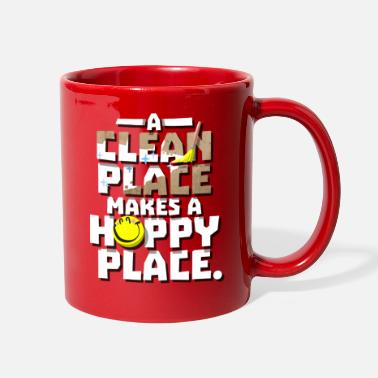 Cleaning Lady A Clean Place, A Happy Place Cleaning Obsessed Tee - Full Color Mug