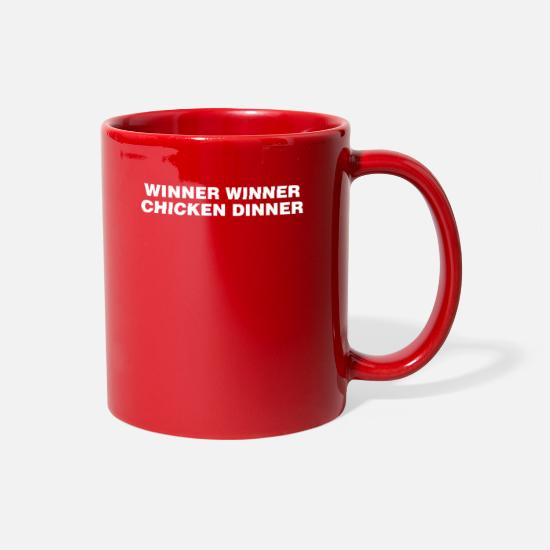Chicken Mugs & Drinkware - Winner Winner Chicken Dinner - Full Color Mug red
