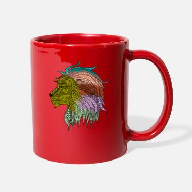 Hippie Colorful Hippie Bohemian Lion Shirts & Gifts - Full Color Mug