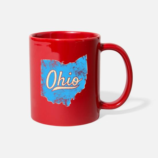 Love Mugs & Drinkware - Ohio Gift I Love My Ohio Home Cleveland Cincinnati - Full Color Mug red