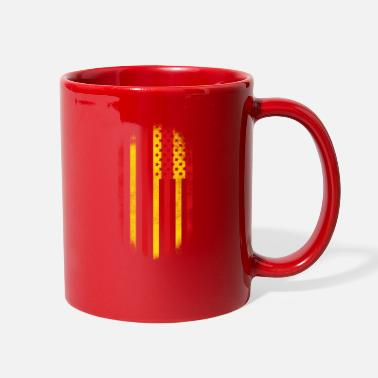 Catalan Designs Catalonian American Flag Catalan and USA Design - Full Color Mug