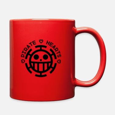 Onepiece Pirate hearts black - Full Color Mug