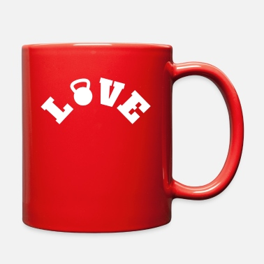Crossfit Live Love Lift Weight Lifting Kettle Bell Workout - Full Color Mug
