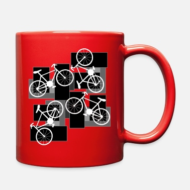 Rectangle Bicycle Rectangles - Full Color Mug