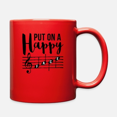 Happy Face Music Put On A Happy Face - Full Color Mug