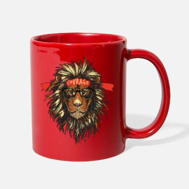 Courage BE Courage Funny Lion T Shirt - Full Color Mug