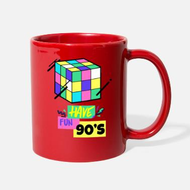 Magic have fun 90s - magic cube color fun genius - Full Color Mug