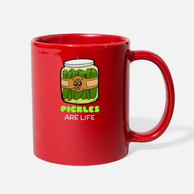 Pickles Pickles Are Life Cute Pickle Pun - Full Color Mug