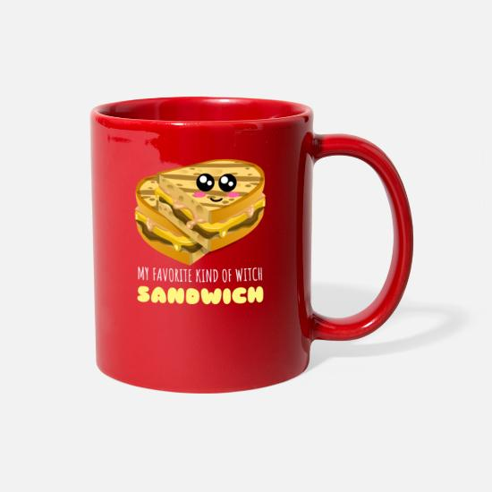 Sandwiches Mugs & Drinkware - My Favorite Kind Of Witch Sandwich Funny Sandwich - Full Color Mug red