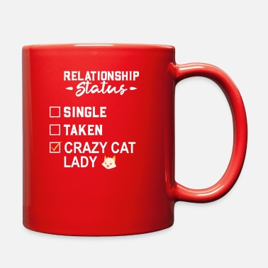 Check Mark Crazy cat lady funny gift quote meow Relationship - Full Color Mug