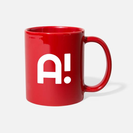 Alphabet Mugs & Drinkware - Alphabet Letter A! - Full Color Mug red