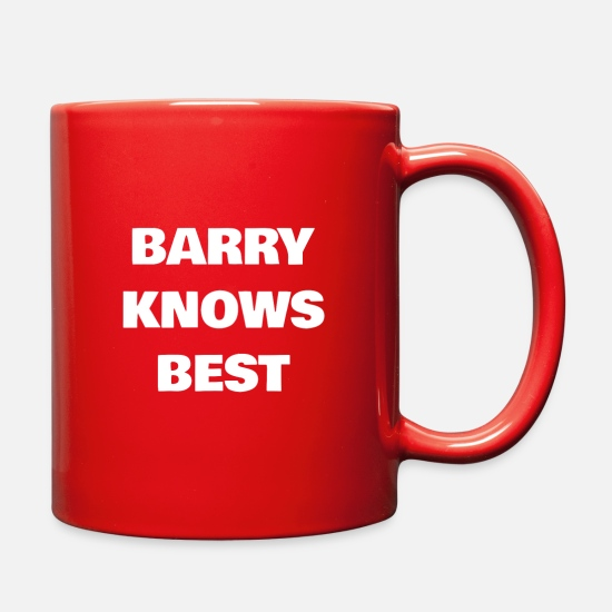 Gift Idea Mugs & Drinkware - Barry Knows Best - Full Color Mug red