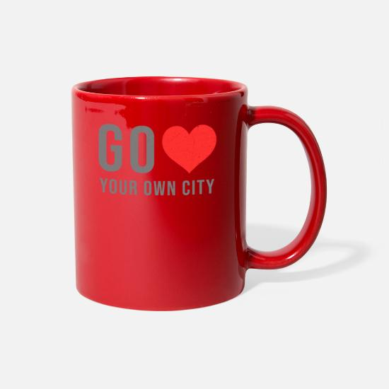Love Mugs & Drinkware - Go love your own city! - Full Color Mug red
