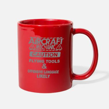 Offensive Aircraft mechanic caution flying tools & offensive - Full Color Mug