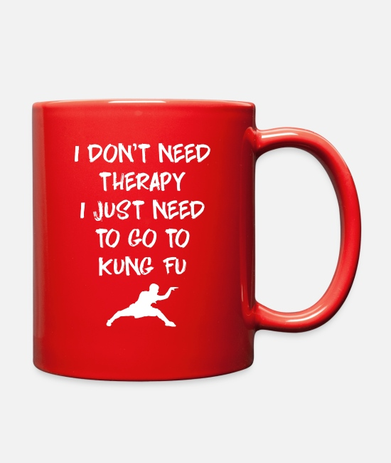 Kung Mugs & Cups - Kung Fu - Full Color Mug red