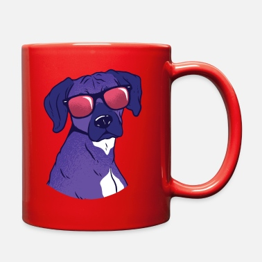 Color Rhodesian Dog With Sunglasses - Full Color Mug