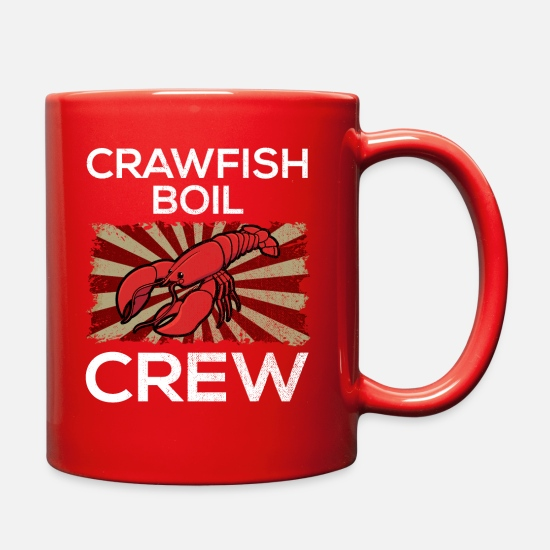 Crew Mugs & Drinkware - Crawfish Boil Crew - Full Color Mug red