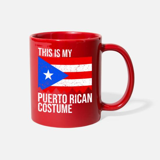 Puerto Rican Mugs & Drinkware - This is my Puerto Rican Flag Halloween T-Shirt - Full Color Mug red
