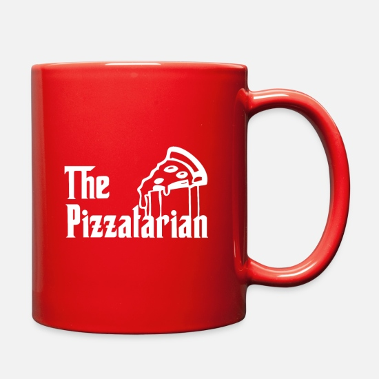 The Godfather Mugs & Drinkware - Pizza Slice Pizzaholic The Godfather - Full Color Mug red