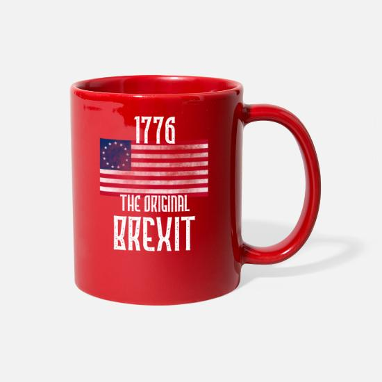 Brexit Mugs & Drinkware - Betsy Ross Original Brexit 1776 American Flag - Full Color Mug red
