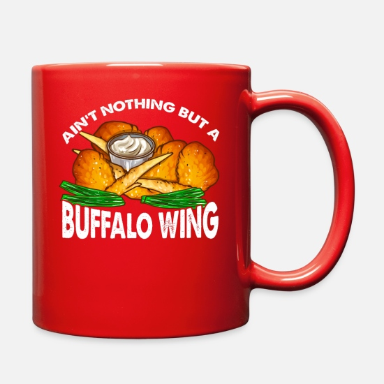 Gift Idea Mugs & Drinkware - Buffalo Wing Chicken Favorite Fast Food Gift - Full Color Mug red