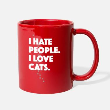 I Hate People I Love Cats Cat Love Cat Owner - Full Color Mug