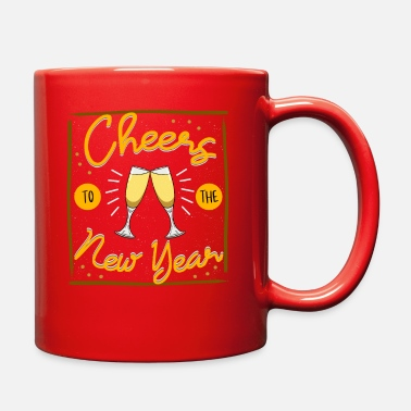 New Years Day Cheers To The New Year - Full Color Mug