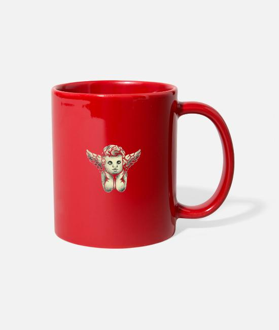 Angel's Wings Mugs & Cups - Sad angel - Full Color Mug red